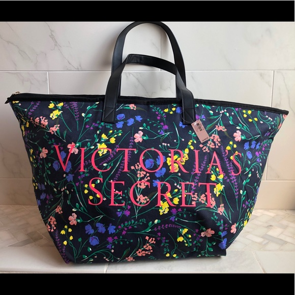 PINK Victoria's Secret Handbags - Victoria's Secret XL floral tote bag